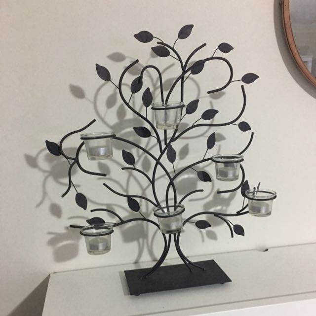 Wrought Iron Tree Tealight Holder