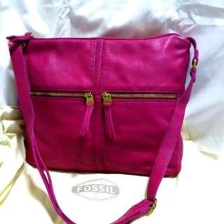 (Reduce)Authentic Fossil Genuine Leather Handbag