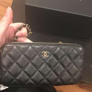 Chanel Quilted Small Clutch With Chain