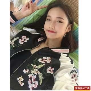 橫須賀刺繡花卉外套 全新 店面購入原價$980