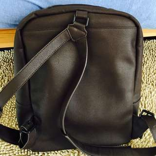 Burberry Leather Backpack.