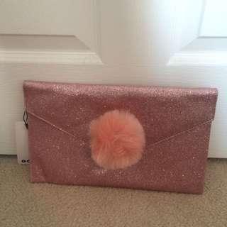 Boohoo Glitter Clutch Bag