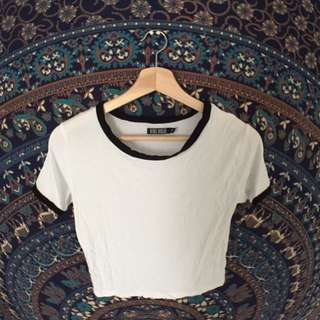SMALL - White Cropped Top