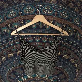 SMALL - H&M Stripped Crop Top