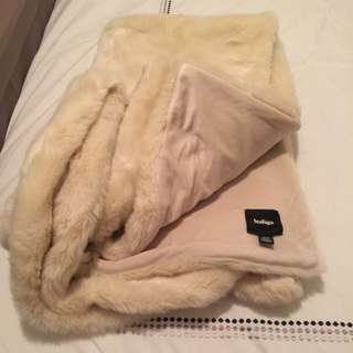 Soft Faux Fur Throw From Indigo