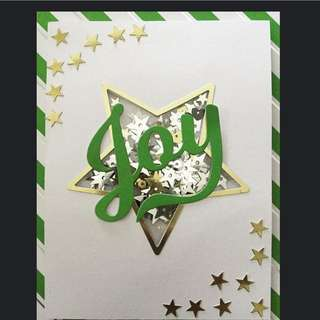 Handmade Christmas Shaker Cards
