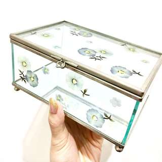 Glass Mirror Jewellery Box
