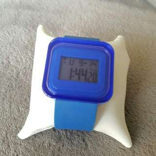 Stylish blue digital watch