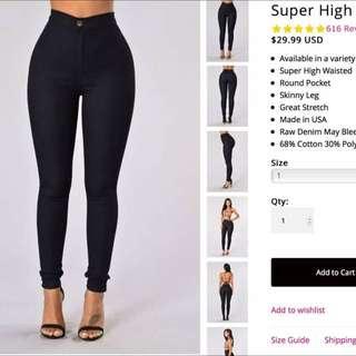 Fashion Nova indigo Jeans