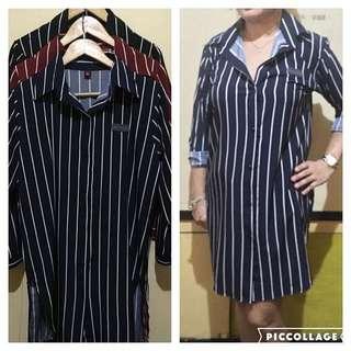 Striped Buttton down shirt dress