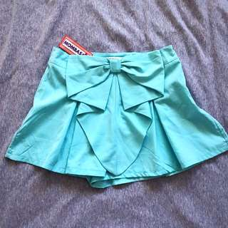 Cute Bow Skort (Size 8 - Sky Blue)
