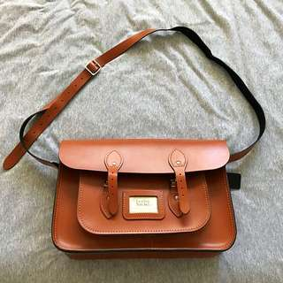 "Leather Satchel Co. 14"" Satchel (London Tan)"