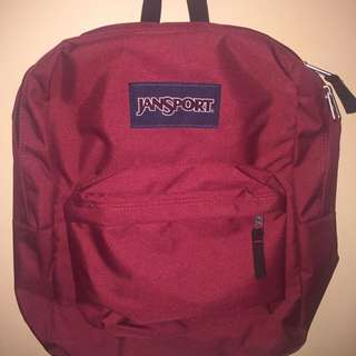 Burgundy Jansport Bag