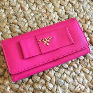 NWOT Replica Prada Wallet - Hot Pink