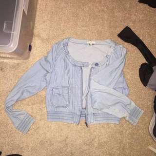 fake denim look jacket