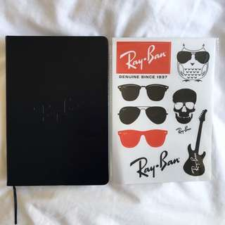 Ray Ban Notebook And Stickers