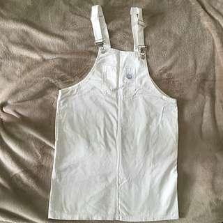 極簡全白吊帶裙