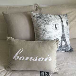Parisian Themed Cushions