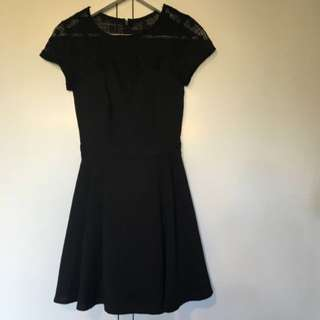 Ally Black Dress With Lace Size 6