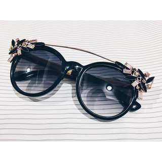 Jimmy Choo Vivy Black Sunglasses