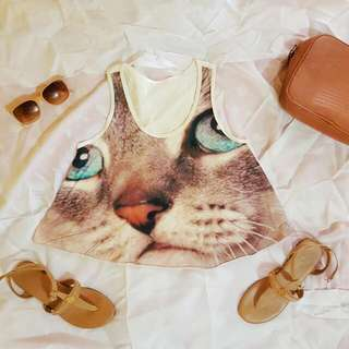 [RESERVED] Cat Hanging Blouse