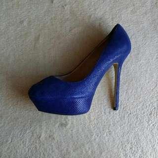 Tony Bianco Blue Stilettos