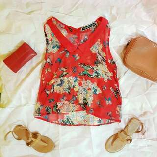 Butterfly printed Chiffon Top
