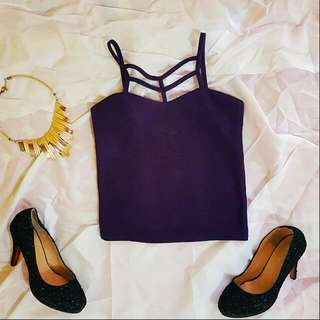 [RESERVED] Purple Strappy Top