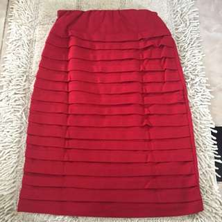 Skirt Red Free Size