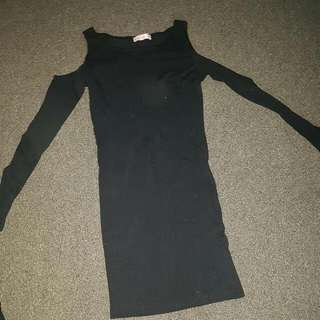Little Black Long Sleeve Dress