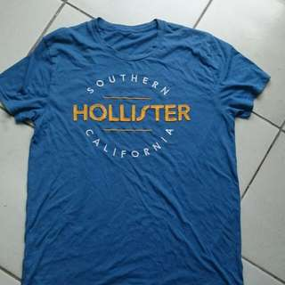 Hollister 藍 T恤