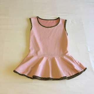 Pink Peplum Top - One Size