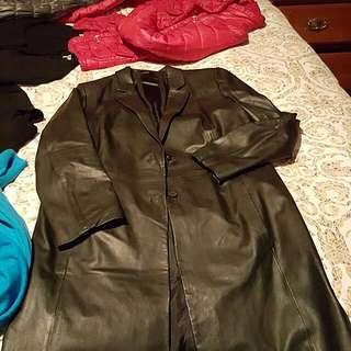 Blacky Berlin Leather Coat Long