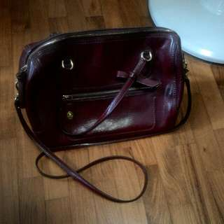 [Reserved] Dark Red Authentic Coach Handbag
