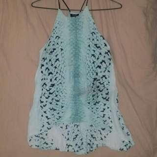 Bardot Blue Flowy Top Size 10