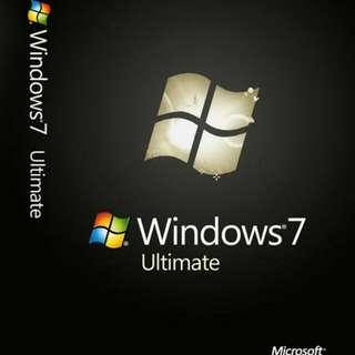 Genuine Microsoft Windows 7 Ultimate