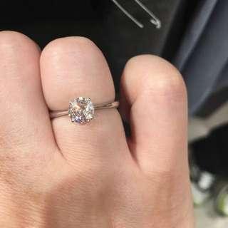 周大福 G Color 鑽石戒指 接近一卡 抵玩