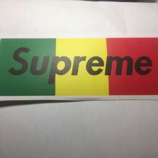 Supreme Skateboard Luggage Case Fridge Guitar Bike Sticker