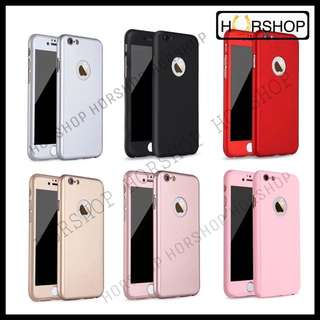 iPhone 6 6s Full Cover 360 Hard Case With Tempered Glass