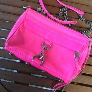 Rebecca Minkoff Hot Pink 'Mini Mac' Purse.