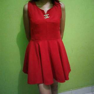 Little Red Dress With Channel Bros