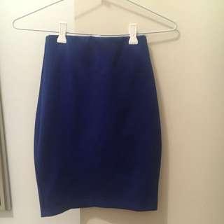 Blue High Waisted Skirt
