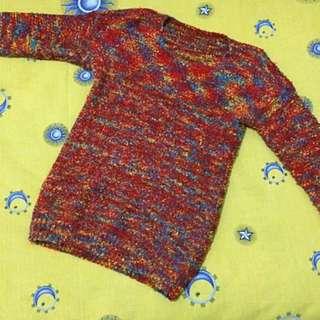 Sweater Rajut Pelangi
