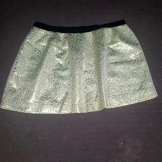 Womens Nwot Gold High Waisted Size 16 Sportsgirl Skirt
