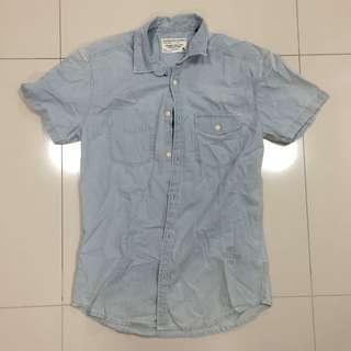 Jack & Jones Short Sleeve Denim Shirt Size M