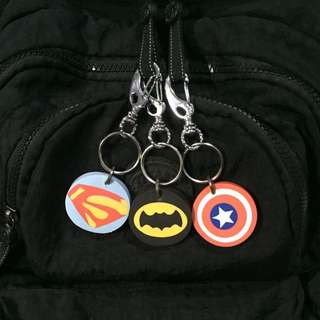 Superman, Batman, Captain America Keychain