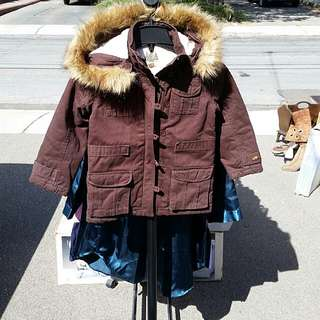 Brown Roots Winter Coat Jacket