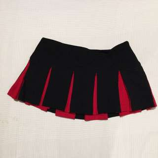 Supré Black And Red Flare Mini Skirt