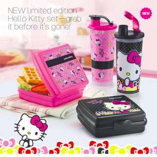 NEW LIMITED EDITION -  Tupperware Hello Kitty Lunch Set