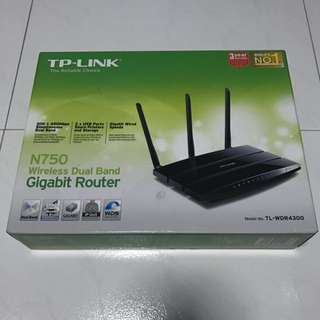 USED: TP-Link N750 Wireless Dual Band Gigabit Router
